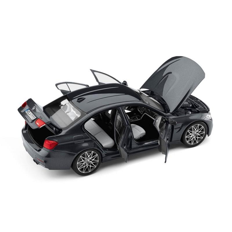 Macheta auto BMW M3 Seria 3 Competition (F80) 2016 negru, 1:18 Norev Dealer Edition