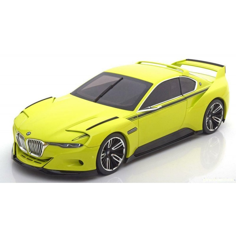 Macheta auto BMW 3.0 CSL Hommage 2015 galben, 1:18 Norev Dealer Edition