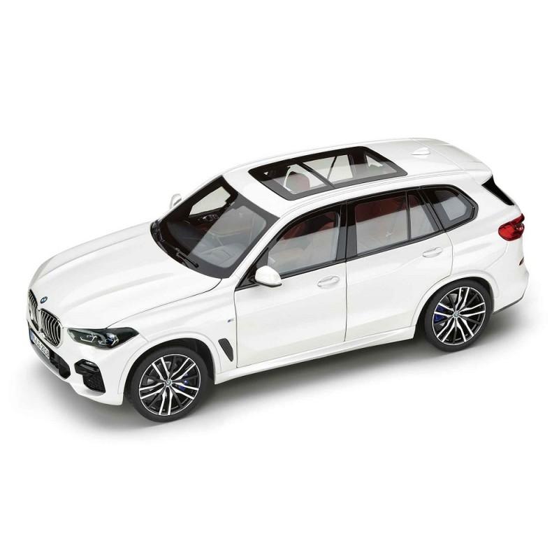 Macheta auto BMW X5 (G05) 2019 alb, 1:18 Norev Dealer Edition