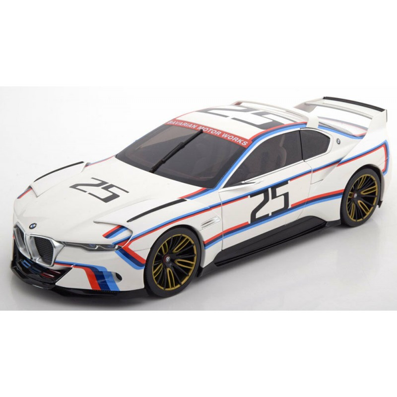 Macheta auto BMW 3.0 CSL Coupe Team BMW MotorSport M Power #25 Hommage R, 1:18 Norev Dealer Edition