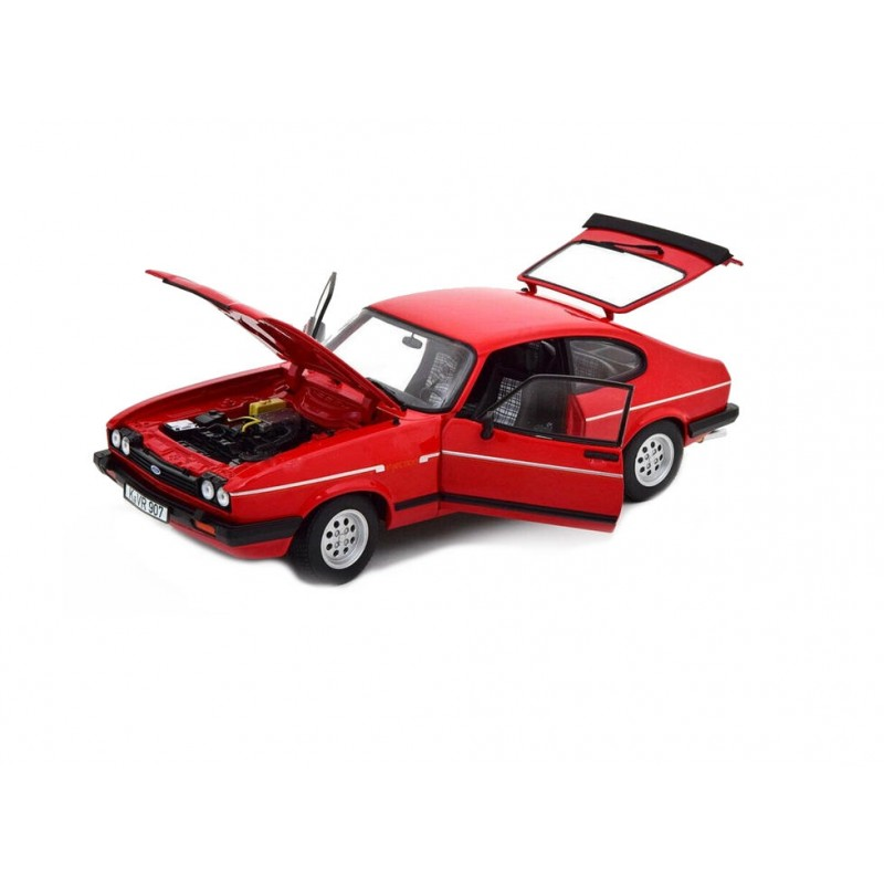 Macheta auto Ford Capri 2.8i Injection 1983 rosu, 1:18 Norev