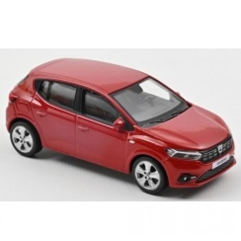 PRECOMANDA: Macheta auto Dacia Sandero rosu 2021, 1:43 Norev