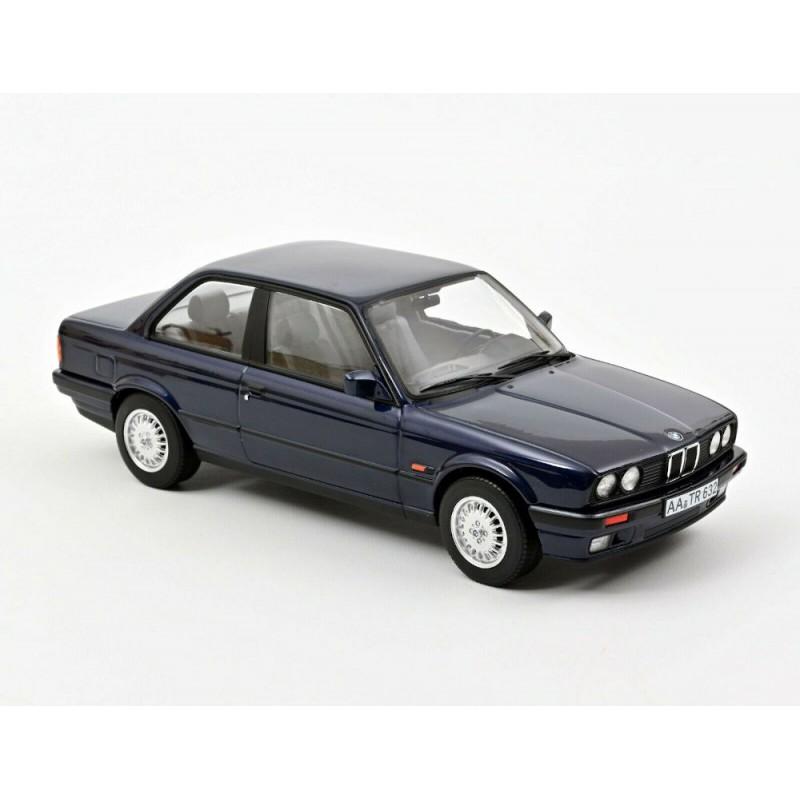 Macheta auto BMW 325i 1988 albastru, 1:18 Norev