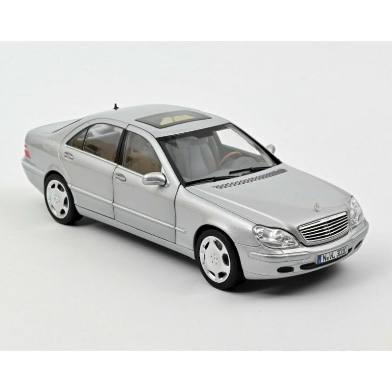 Macheta auto Mercedes-Benz S600 argintiu 1998, 1:18 Norev