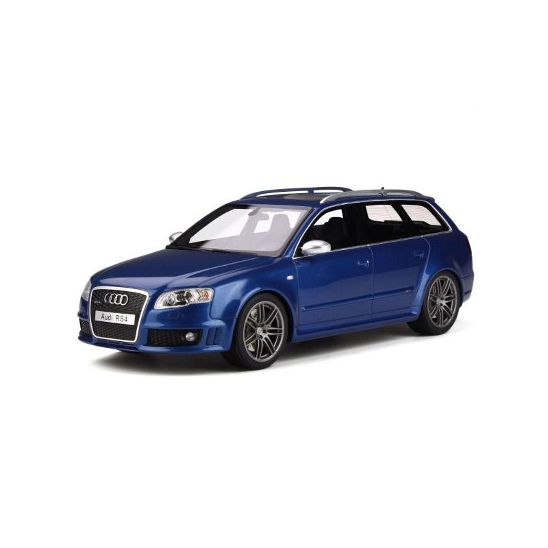 Macheta auto Audi RS4 B7 albastru 2005, 1:18 Otto Models