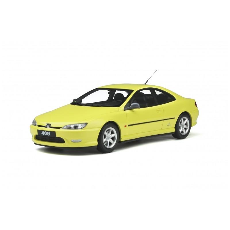 PRECOMANDA : Macheta auto Peugeot 406 Ph.1 Coupe V6 galben 1997, LE 2000 pcs, 1:18 Otto