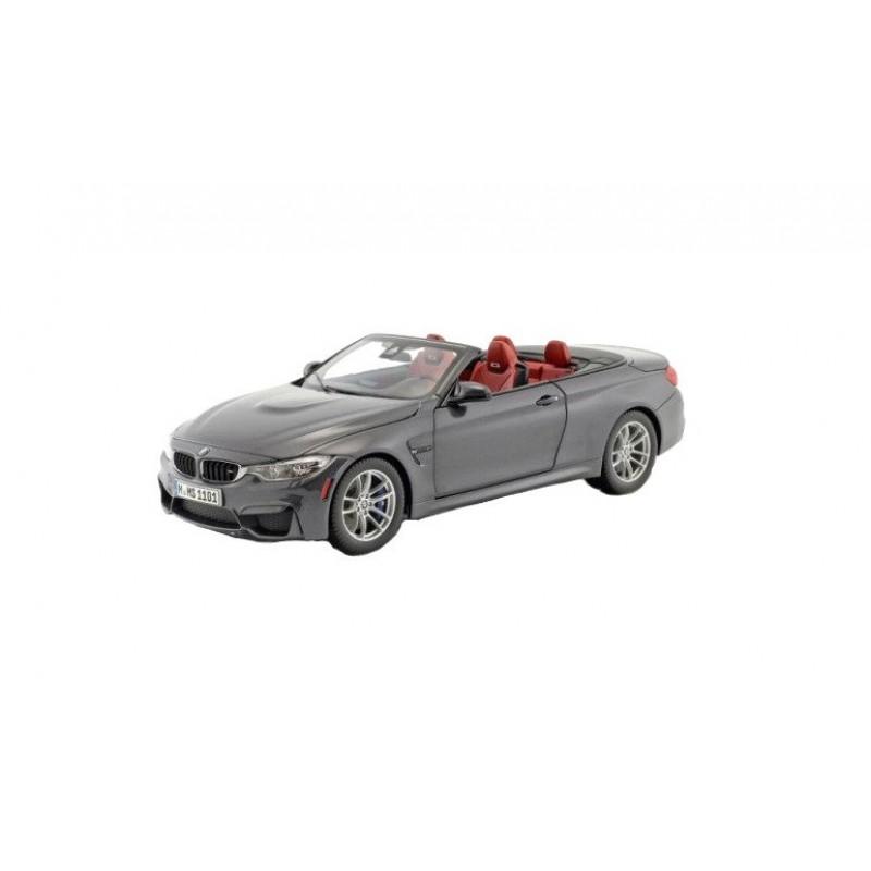 Macheta auto BMW M4 (F83) decapotabil 2015 gri 1:18 Paragon