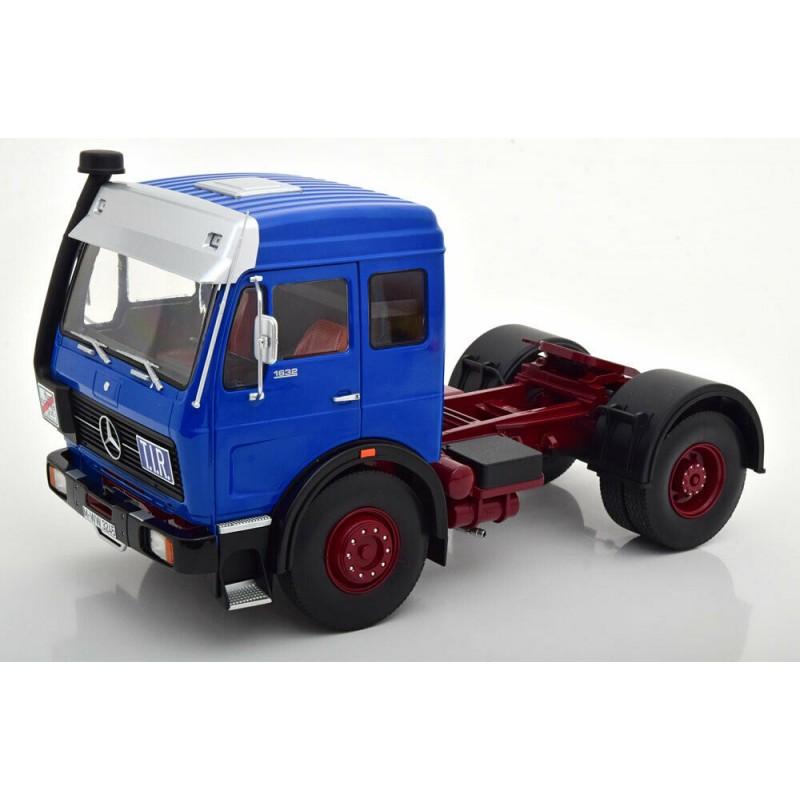 Macheta camion Mercedes-Benz NG 1632 1973 albastru/rosu LE1500 pcs, 1:18 Road Kings