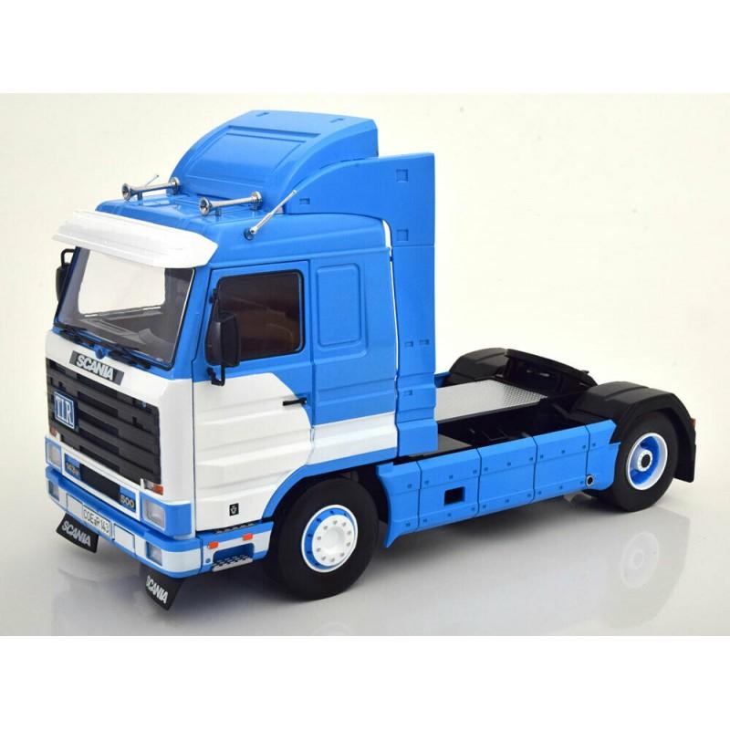 Macheta camion Scania 143  Streamline 1992 albastru/alb LE400 pcs, 1:18 Road Kings