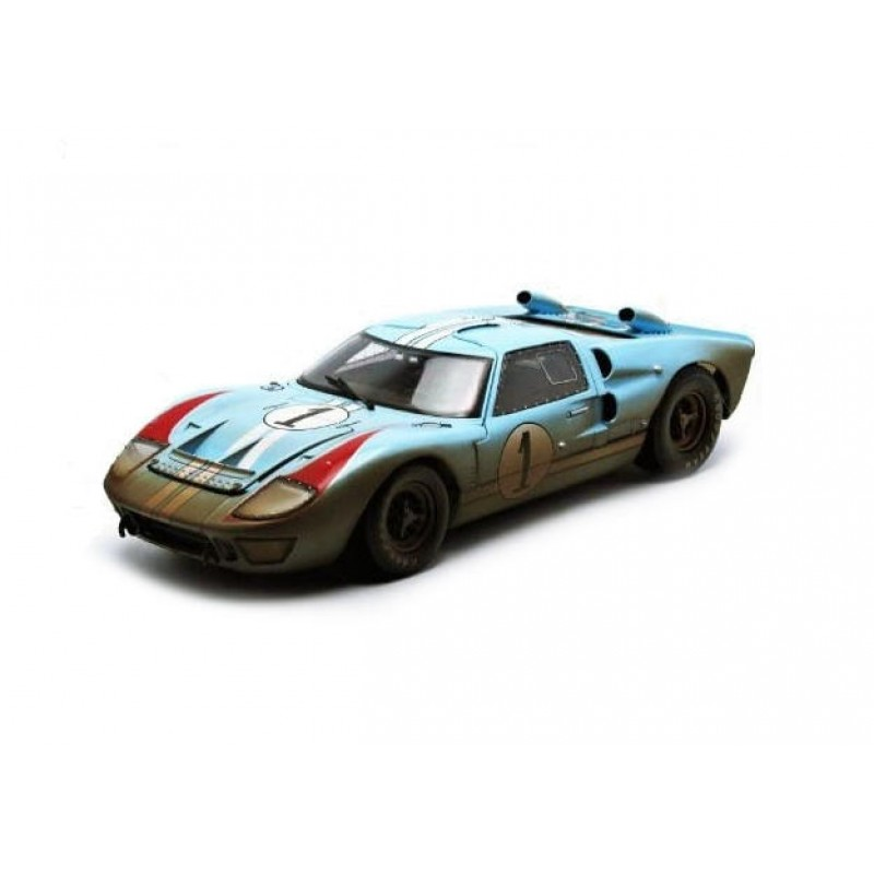 Macheta auto Ford GT-40 MK II #1 finish line Shelby 1966, 1:18 Shelby Collectibles
