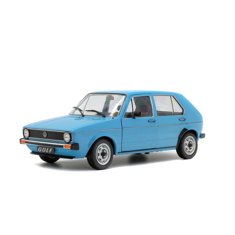 DEFECTA: Macheta auto Volkswagen Golf L albastru 1983, 1:18 Solido