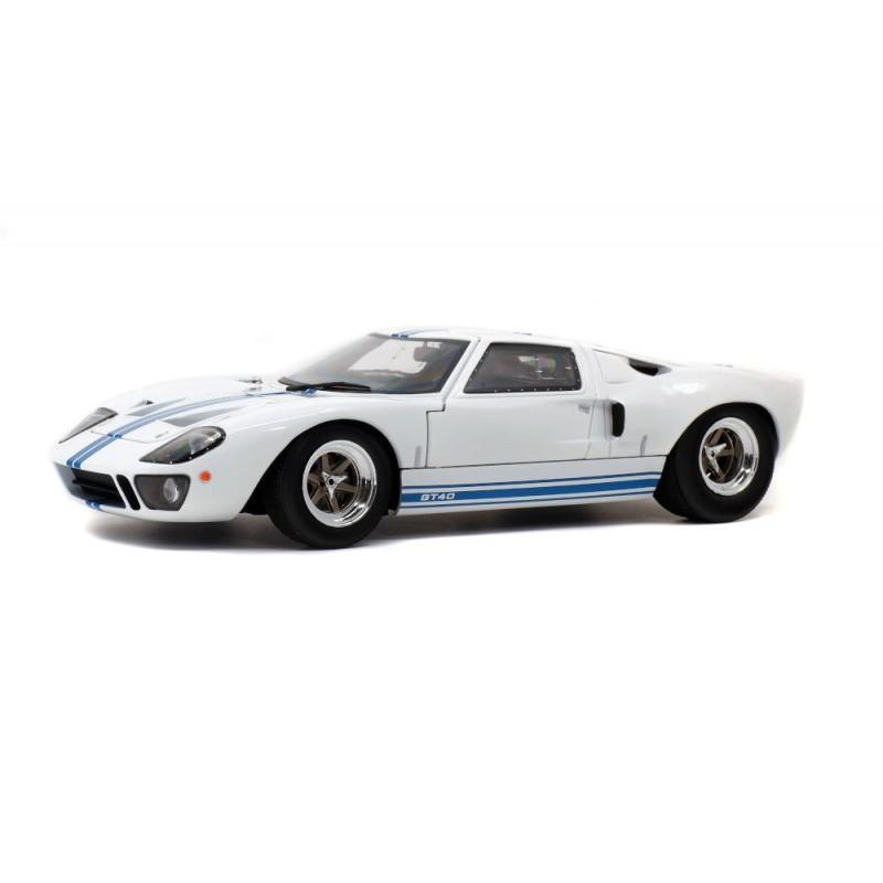 Macheta auto Ford GT40 MK1 alb, 1968, 1:18 Solido