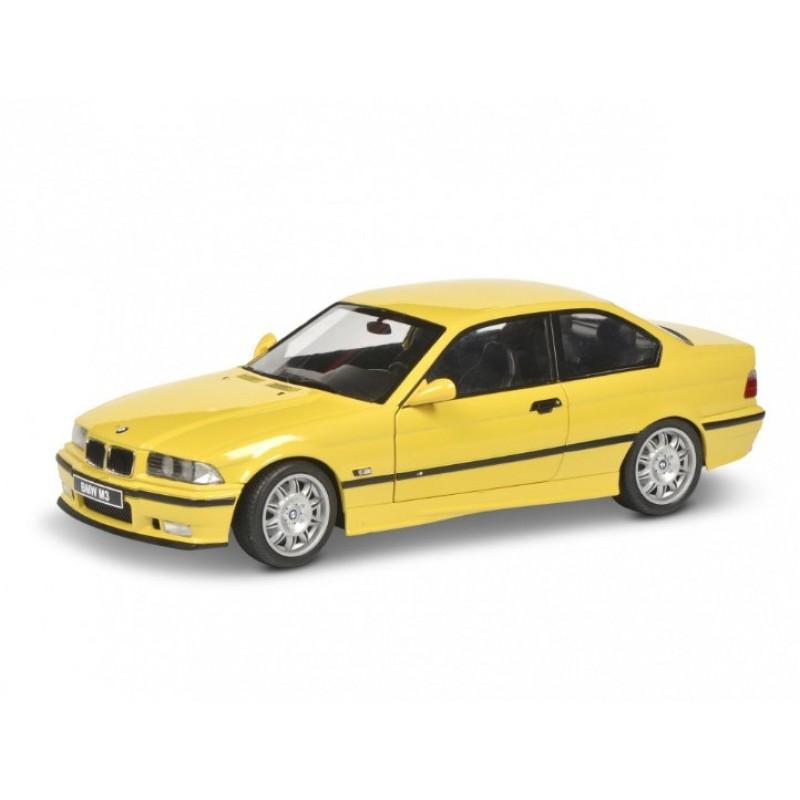 DEFECTA: Macheta auto BMW E36 Coupe M3 1994 galben, 1:18 Solido