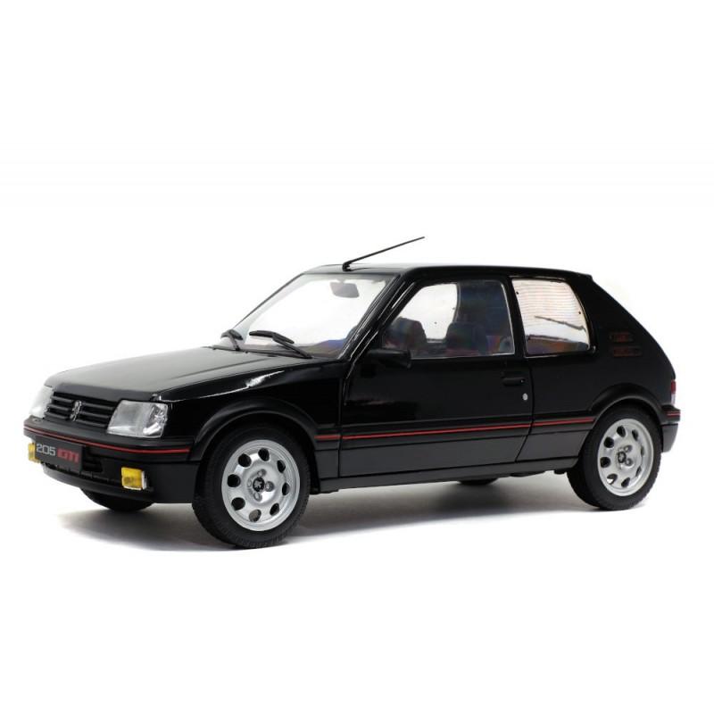Macheta auto Peugeot 205 GTI PH 1 negru 1985, 1:18 Solido
