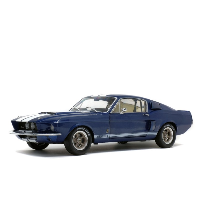 Macheta auto Ford Mustang Shelby GT500 albastru 1967, 1:18 Solido