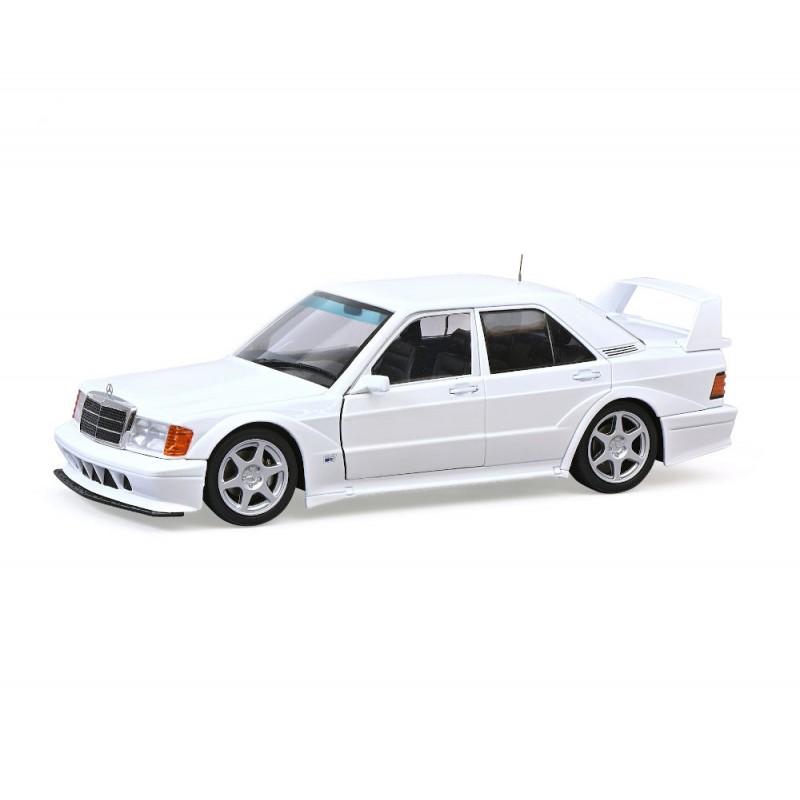 Macheta auto Mercedes-Benz 190E alb rosu 1990 editie limitata, 1:18 Solido