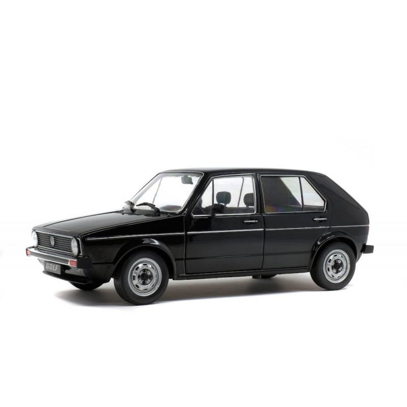 Macheta auto Volkswagen Golf L 1983 Negru, 1:18 Solido