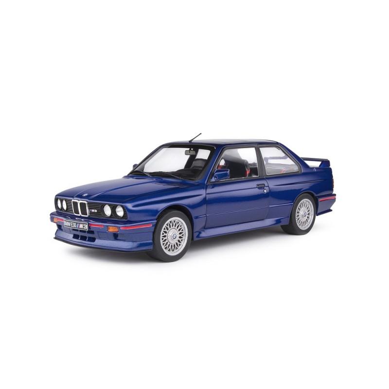 Macheta auto BMW E30 M3 1990 albastra, 1:18 Solido