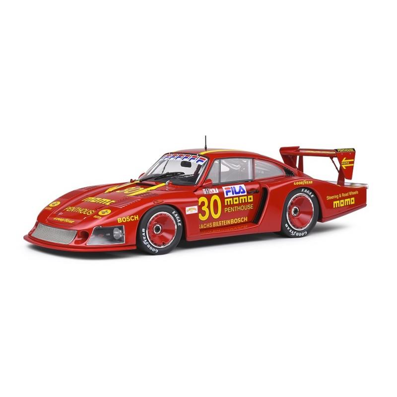 Macheta auto Porsche 935 Moby Dick 24H Le Mans rosu 1982, 1:18 Solido