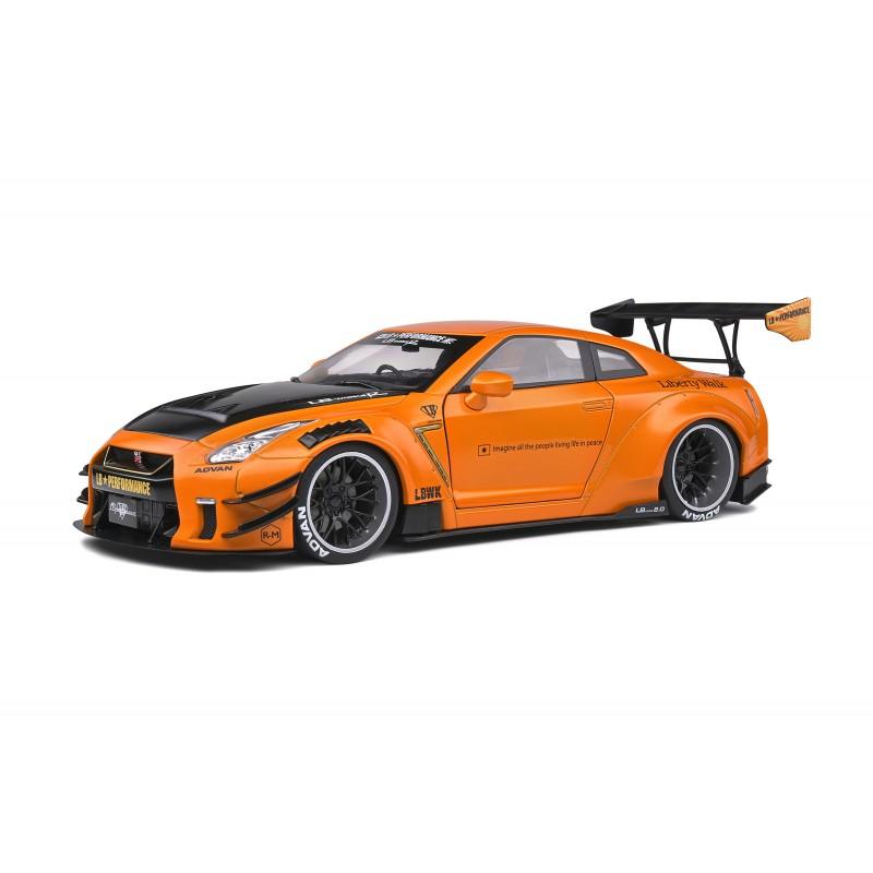 Macheta auto Nissan GTR LB Works GT35 Type 2 2020 portocaliu, 1:18 Solido