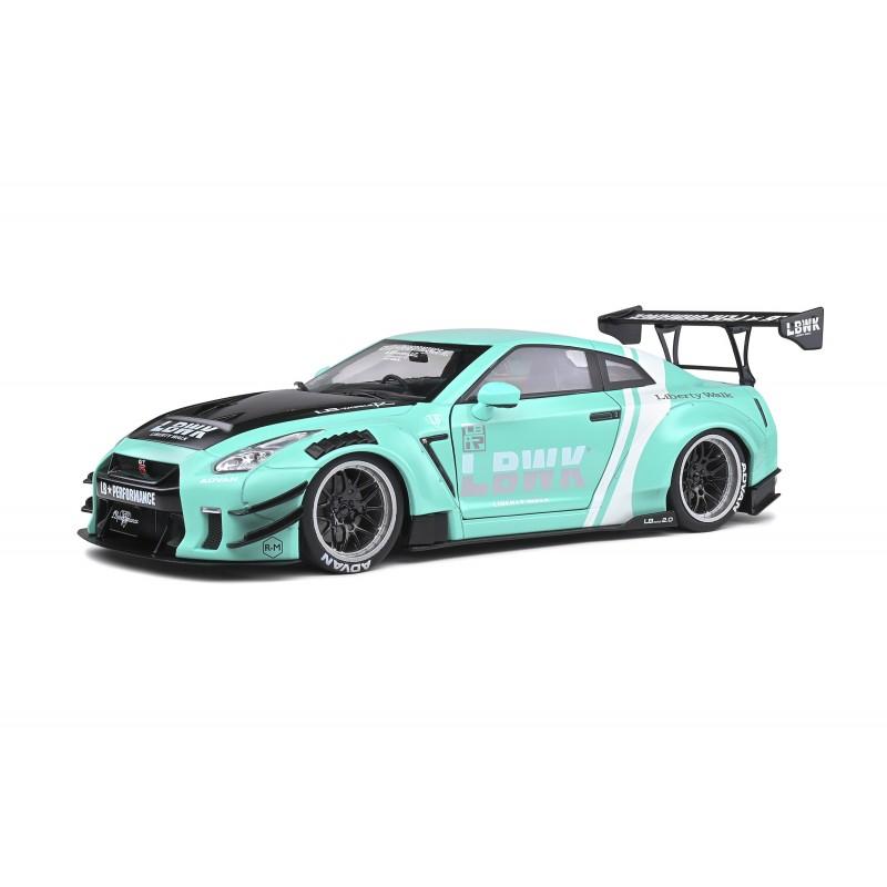 Macheta auto Nissan GTR LB Works GT35 Type 2 2020 bleo, 1:18 Solido