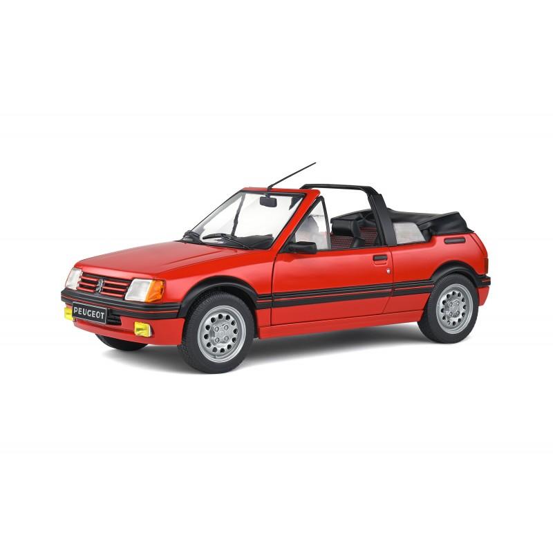Macheta auto Peugeot 205 GTI Mk1 Decapotabila 1986 rosu, 1:18 Solido