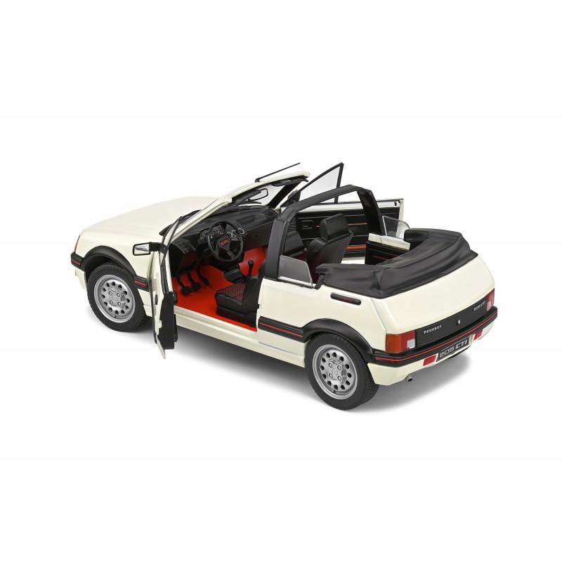 Macheta auto Peugeot 205 GTI Mk1 Decapotabila 1986 alb, 1:18 Solido