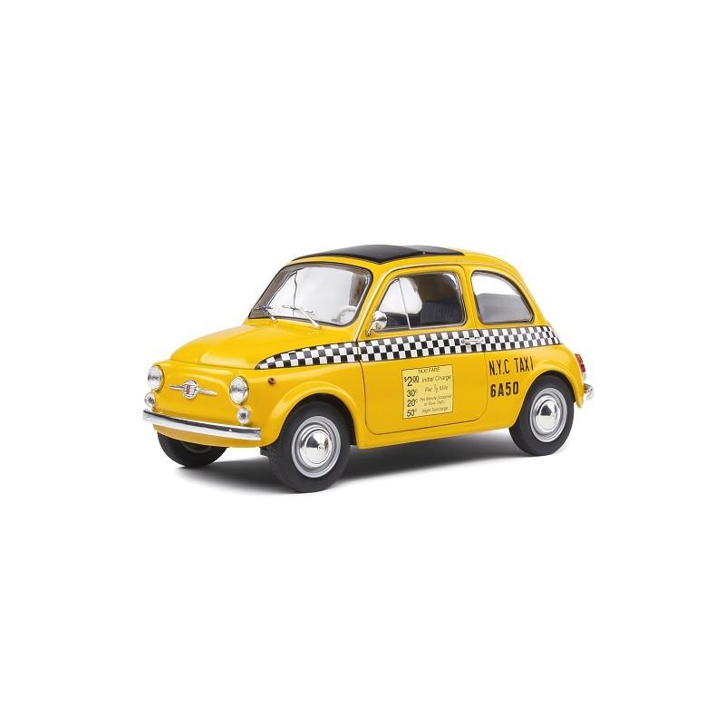 Macheta auto Fiat 500 Taxi NYC 1965 galben, 1:18 Solido