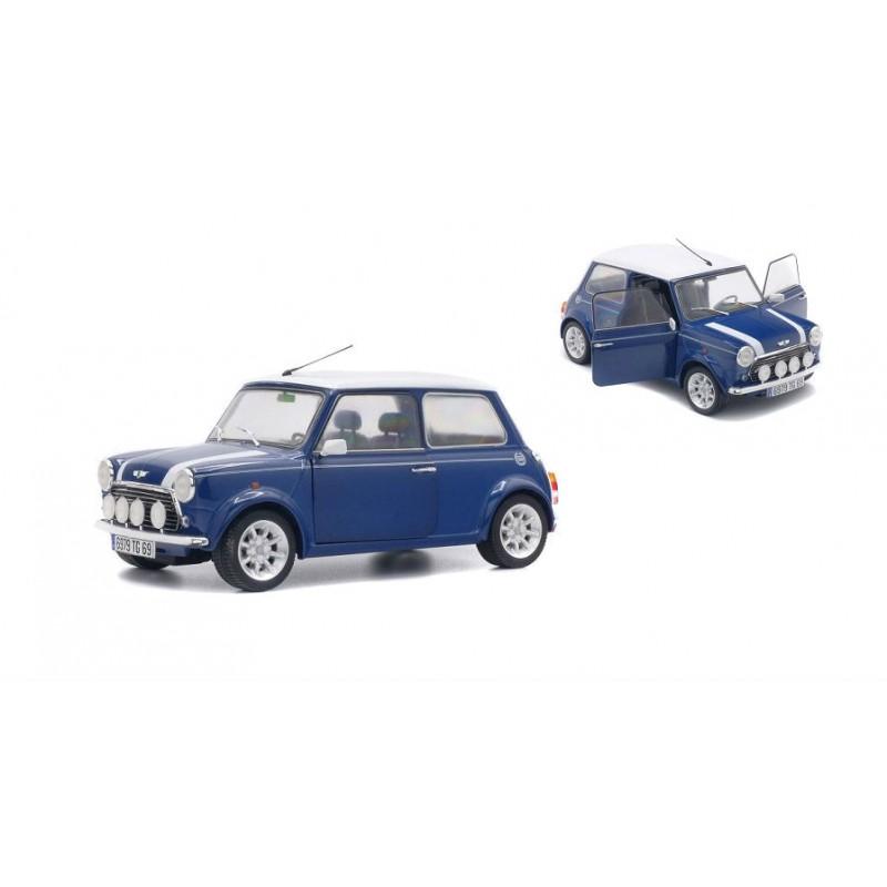 DEFECTA: Macheta auto Mini Cooper Sport 1997 albastru, 1:18 Solido