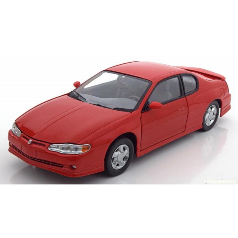DEFECTA: Macheta auto Chevrolet Monte Carlo SS 2000 rosu, 1:18 Sunstar