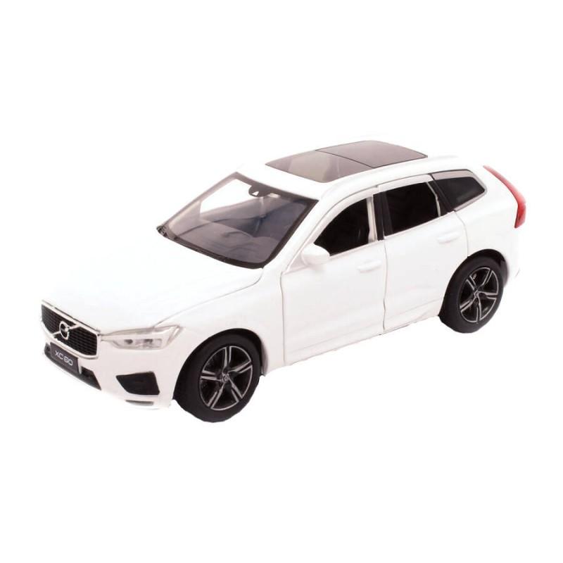 Macheta auto Volvo XC60 alb, pull back, lumini, sunet, 1:32 Tayumo