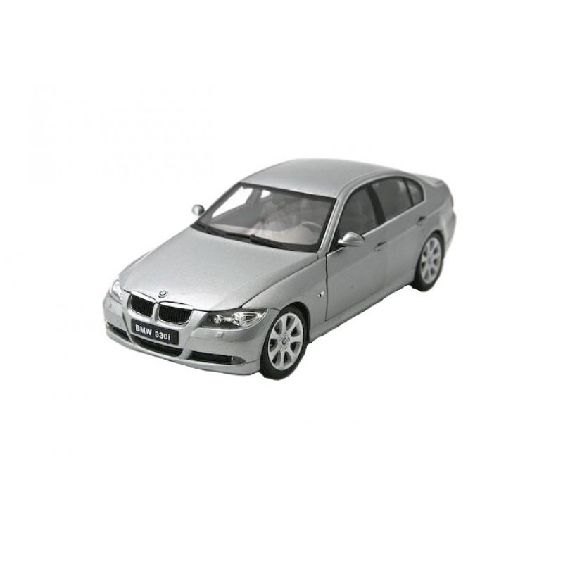Macheta auto BMW 330i F30 gri 2006, 1:18 Welly