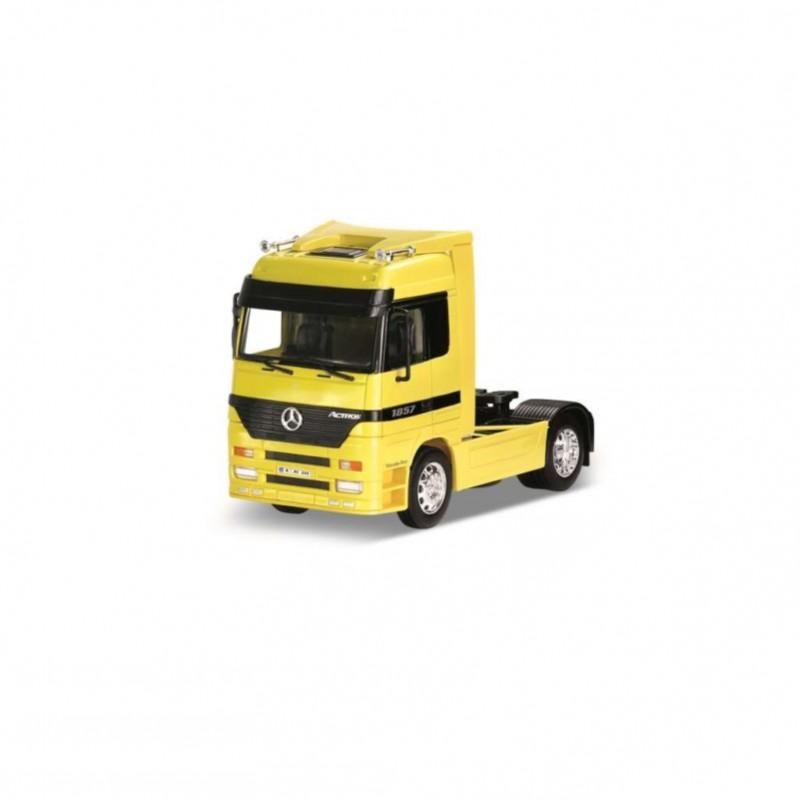 Macheta camion Mercedes-Benz Actros galben, 1:32 Welly