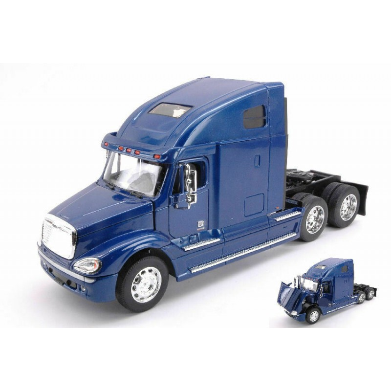 Macheta camion Freightliner Columbia albastru, 1:32 Welly