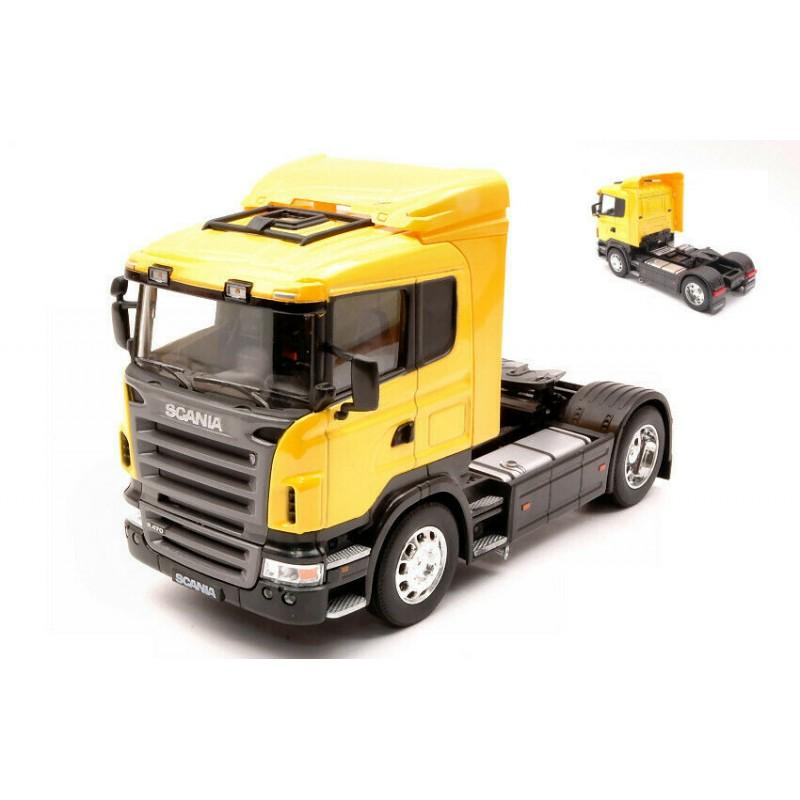 Macheta camion Scania R470 galben, 1:32 Welly