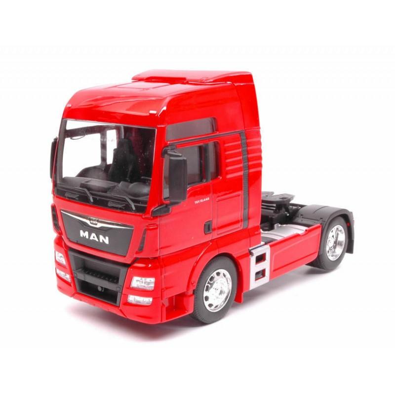 Macheta camion MAN TGX 18.440 (4x2) rosu, 1:32 Welly