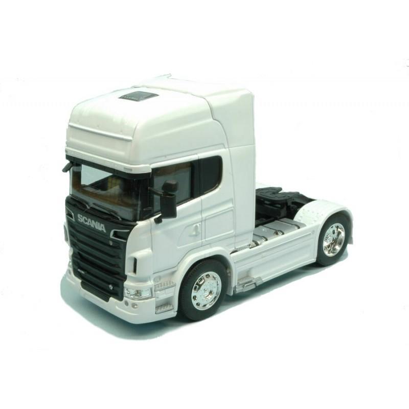 Macheta camion Scania R730 V8 (4x2) alb, 1:32 Welly