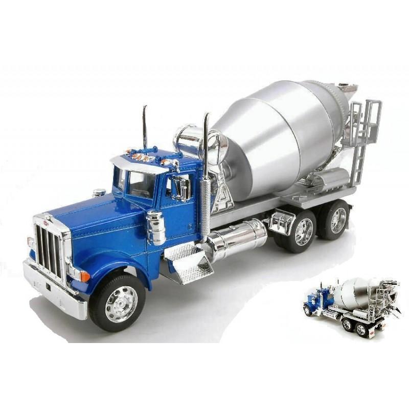 Macheta camion Peterbilt 379 Betoniera albastru, 1:32 Welly