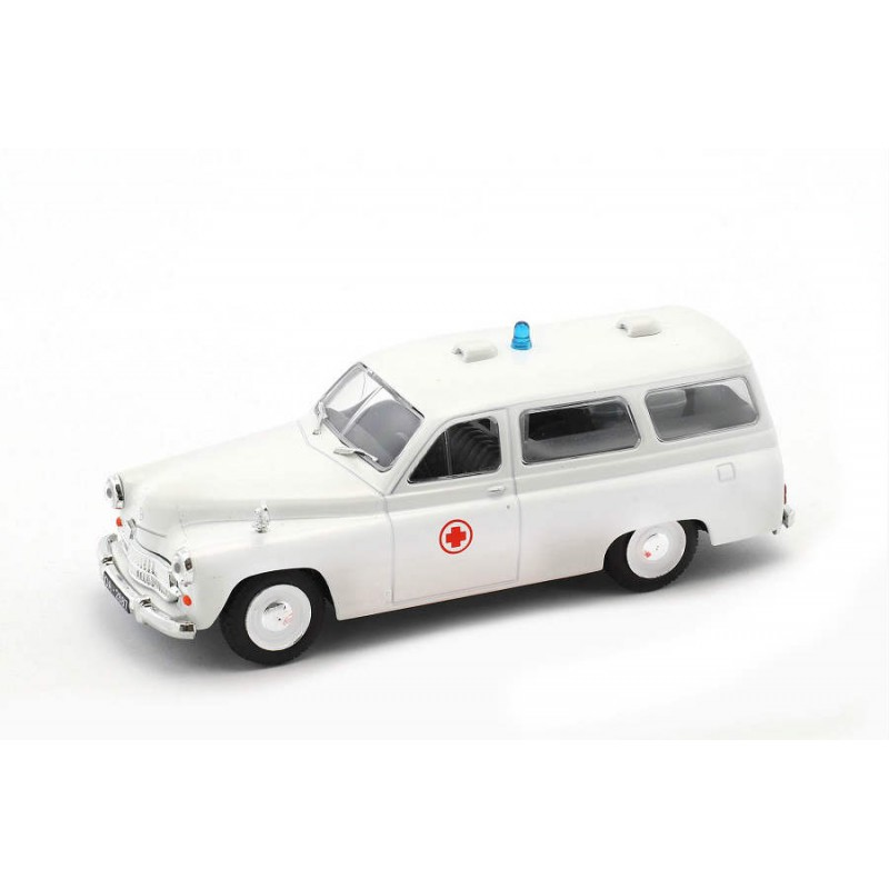 DEFECTA: Macheta auto Warszawa 202A ambulance, 1:43 Deagostini/Ixo