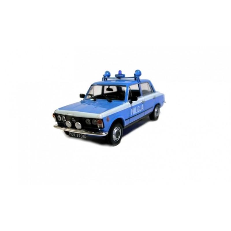 DEFECTA: Macheta auto Fiat 125P Milicja Politie 1984, 1:43 Deagostini/Ixo