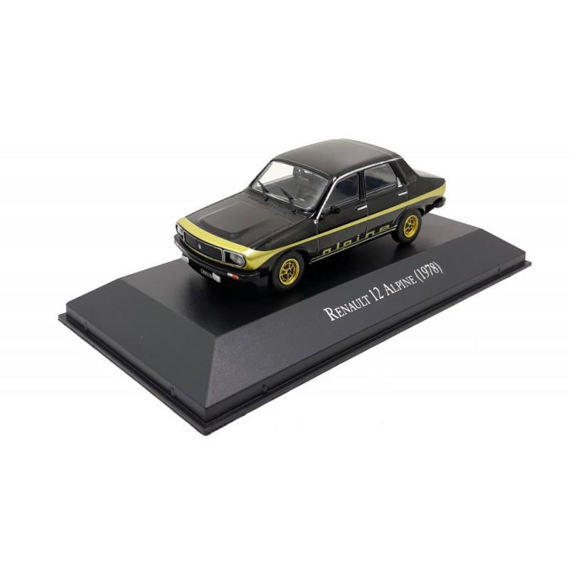DEFECTA: Macheta auto Renault 12 Alpine black 1978, 1:43 Ixo Argentina