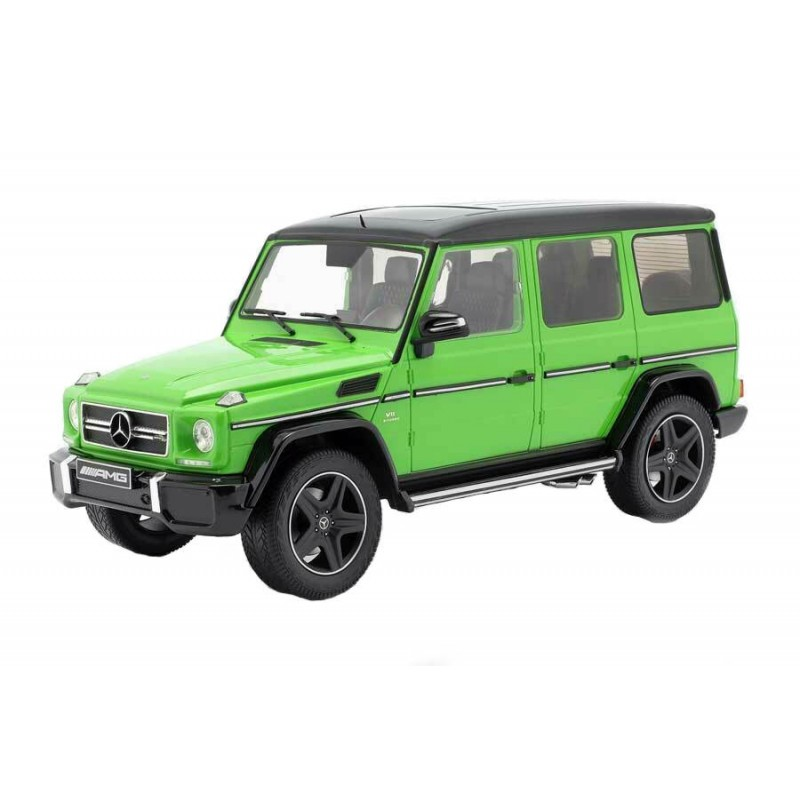 DEFECTA: Macheta auto Mercedes Benz G63 (W463) verde  2015 Sealed, 1:18 iScale