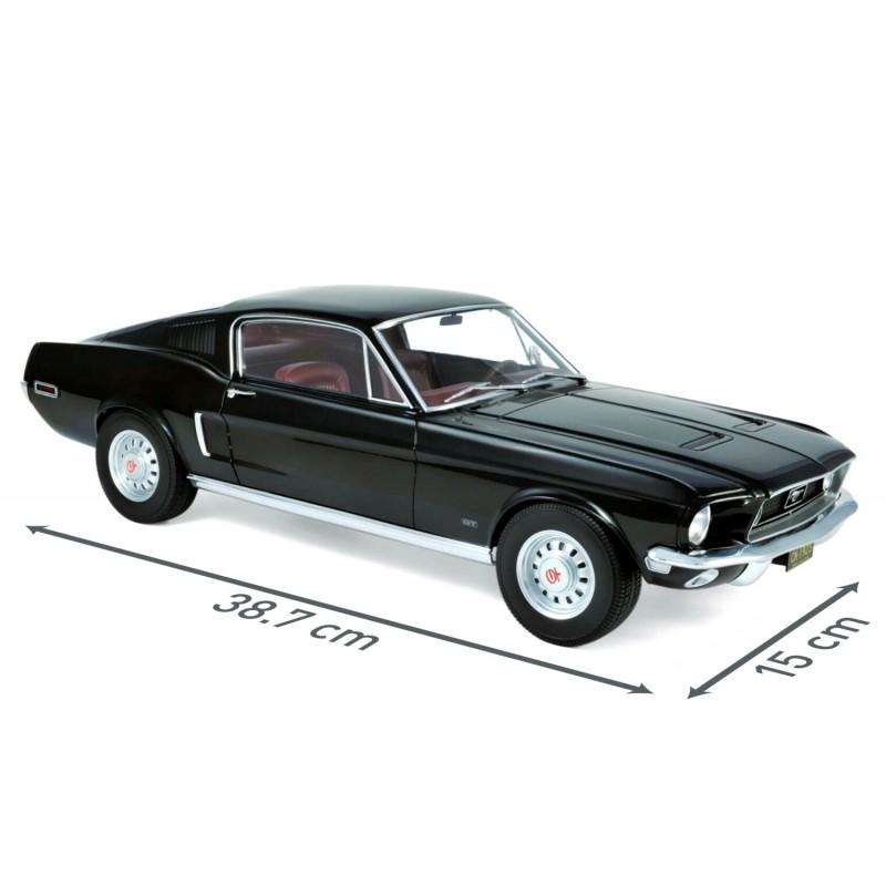 FORD Mustang Fastback (1968) 1:12 negru
