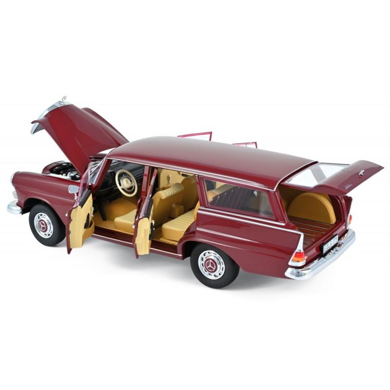 MERCEDES-BENZ 200 Universal (1966) 1:18 rosu inchis