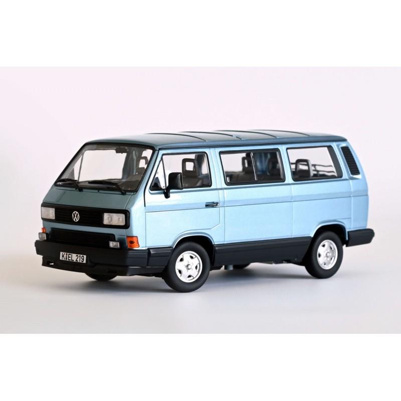 VOLKSWAGEN T3 Multivan Minibus (1990) 1:18 albastru deschis